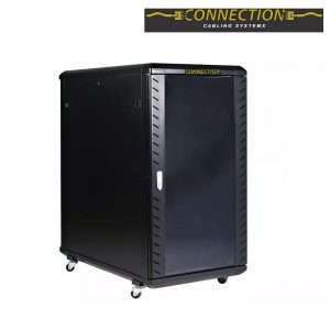 Gabinete Rack Cerrado De Piso 18ur Puerta Connection Server