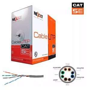 Rollo De Cable Utp Categoria 5e Nexxt Cat5e 305m 100% Cu