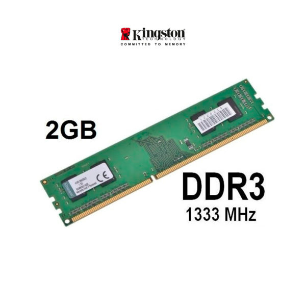 Memoria Ram Kingston Ddr3 2gb Pc3-10600 1333mhz Pc Escritor.