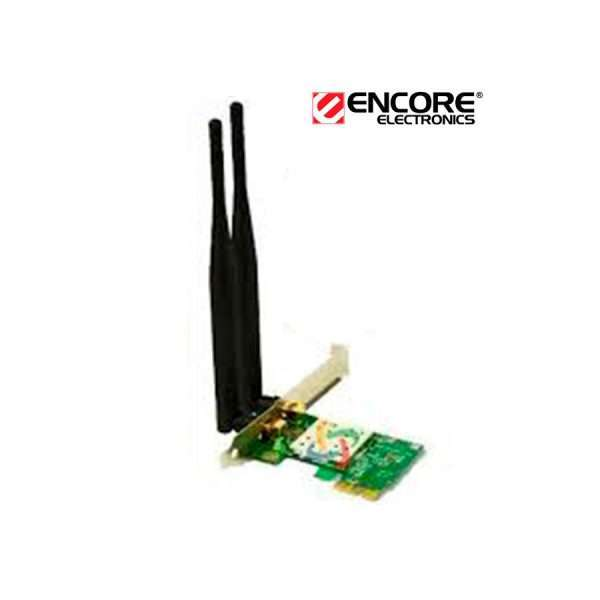 Tarjeta Wireless N Encore We8192ce55 Pci-e X1 300mbps 2 Ant.